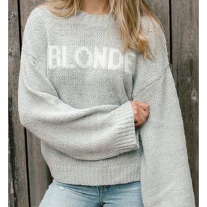 Brunette The Label Blonde Yes Girl Knit Sweater